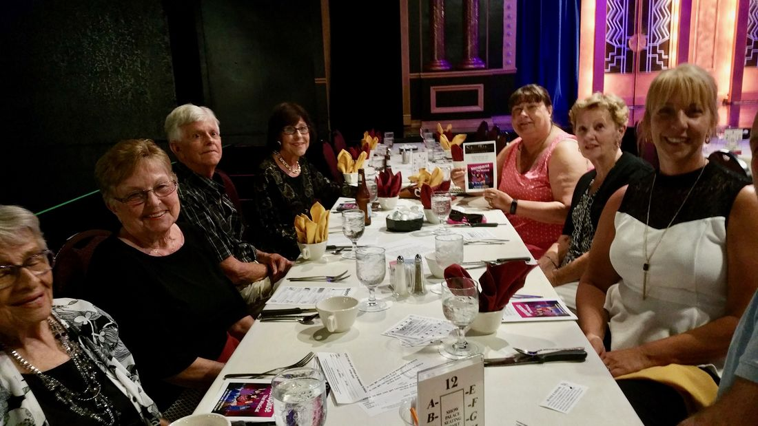 Another table of eight people from the Forest Glenn group seeing Menopause the Musical at the Show Palace.