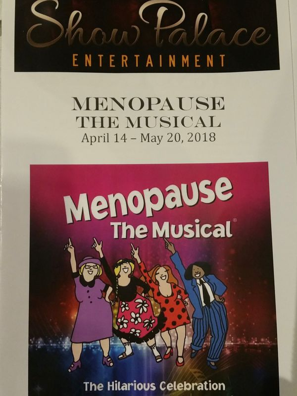 The theater playbill from Menopause the Musical
